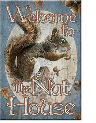 Eichhörnchen - USA Magnet Magnetschild -  Welcome to the Nut House