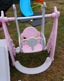 Kids slide and swing