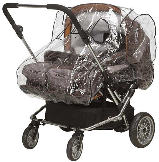 Playshoes Rain cover for Twin baby carriages with Baby bath tub 448943