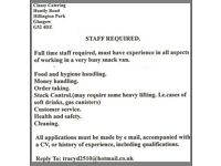 PART TIME, CATERING ASSISTANT REQUIRED, CLASSY CATERING,
