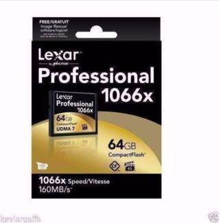 Lexar Professional 64GB CF Compact Flash Card 1066X 160MB/s NEW Hornsby Hornsby Area Preview