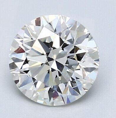 1.36 ct Round Diamond Platinum Solitaire Ring w/ GIA certificate H VS2 excellent 1