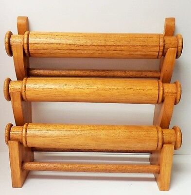 Candy Brown Wood Bracelet Display