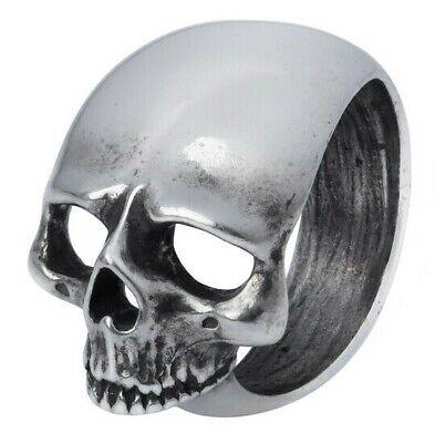 Schadel Schief Ring Big Pewter Sideways Skull Men's Women's Alchemy Gothic R230