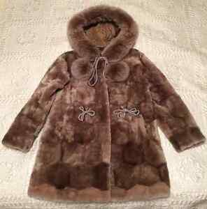 New Girl's Elegant Mutton Fur Hooded Coat for Sale!