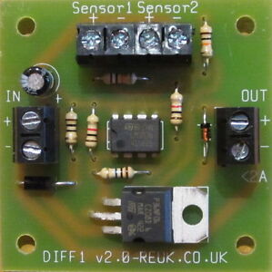 DIFFERENTIAL THERMOSTAT / SOLAR WATER HEATING PUMP CONTROLLER INCLUDING SENSORS