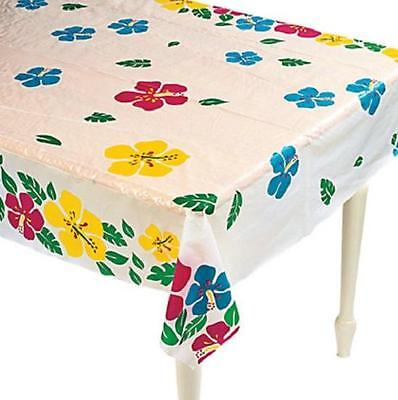 Cut to Fit Plastic Tablecloth Roll Hibiscus Flowers Table Decoration 100-Ft Long](Tablecloth Roll Plastic)