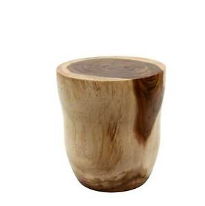 Solid Timber Stool Side Table Made Out Of Suar Wood 41 D X