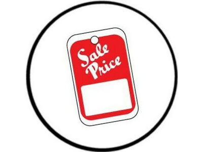 1000 SALE PRICE Tags Red - White, Unstrung