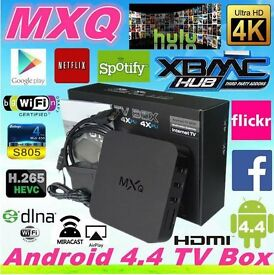 MXQ ANDROID SMART TV BOX KODI 16.1 STREAM FREE MOVIES SPORTS GAMES ECT NO MORE BILLS