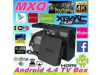 MXQ ANDROID SMART TV BOX KODI 16.1 STREAM FREE MOVIES SPORTS GAMES ECT NO MORE BILLS