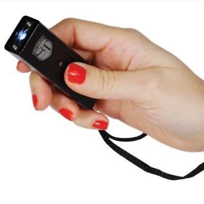 Mini Stun Gun Police Self Home Women Safety Security Defense Blk Taser Keychain