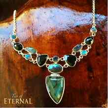 One-of-a-kind LABRADORITE & AUSTRALIAN TOURMALINE NECKLACE Robina Gold Coast South Preview