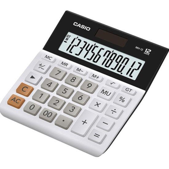 CASIO Calculator Desk Office Business Calculator MH-12 Desktop Big Size 12 digit