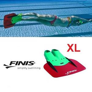 NEW FINIS XL SHOOTER MONOFIN - 115382521 - RED BLADE GREEN X LARGE RACE PACE TEMPO SWIMMING PRACTICE WATER SPORT POOL...