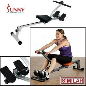 NEW SUNNY FITNESS ROWING MACHINE SUNNY HEALTH  FITNESS EXERCISE EQUIPMENT WORKOUT CARDIO ROWERS ROWER 108849817