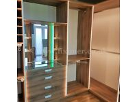 Walk-in Wardrobe Ex-display with Premium Storage System and LED Lighting