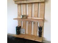 Wall mounted Pallet Shevling unit