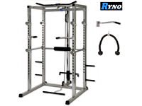RYNO Power Rack Squat Cage & Cable Lat Pull Up/Down/Row/Curl Station/Machine