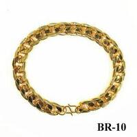 BR-10  Bracelet Plaqué OR, Alliage métal lourd Homme 19.5cm  VVV