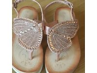 Rose Gold Butterfly sandles