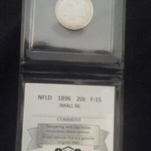 1896 NFLD silver 20 cent coin.
