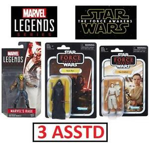 NEW 3 ASSTD MARVEL/STAR WARS FIGURE 236214435 MARVEL RAGE FIGURE STAR WARS KYLO REN  REY JAKKU