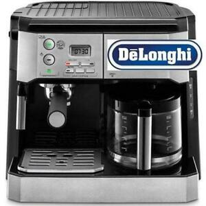 *DELONGHI COMBINATION PUMP ESPRESSO & 10-CUP DRIP COFFEE MACHINE W/FROTHING WAND