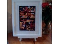 The Flash Vs The Reverse Flash Print 1 - A4 Comic Strip Print - choice of White or Black Frame