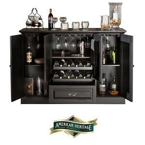 NEW* AHB CARLOTTA BLACK BUFFET - 122673846 - AMERICAN HERITAGE BILLARDS CABINET BUFFETS TABLE TABLES BAR BARS STORAGE...