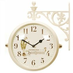 Antique Modern Double Sided Wall Clock Home Decor Station Clock Gift - M195IVB4