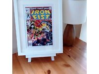 Iron Fist - Comic Strip Print (A4) with a White or Black Frame