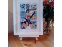 A4 Wonder Women Print - With a choice of a Whte or Black Frame