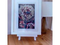 Street Fighter - Ryu Vs Sagat - Comic Strip Print with a White or Black Frame