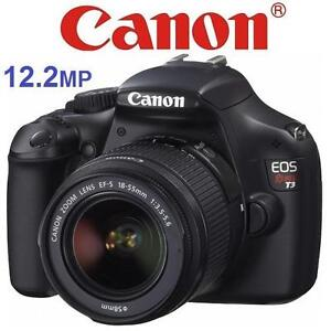 USED CANON REBEL T3 CAMERA 12.2MP DSLR - 18-55MM IS LENS - DIGITAL PHOTOGRAPHY - ELECTRONICS 101092536