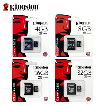 Kingston 4GB 8GB 16GB 32GB Micro SD SDHC Memory Card Class 4 TF Card - New 4 Gb Microsd