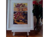 The Flash Vs The Reverse Flash Print 2 - A4 Comic Strip Print - choice of a Black or White frame