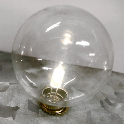 LED Glass Spare Light Bulb for Battery Operated Signs G40 E12 C7 Socket Base ()
