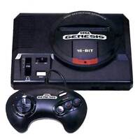 Sega Genesis with 2 controllers and bunch of games