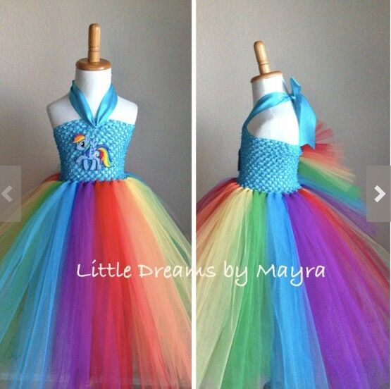"""tutu dress rainbow handmade, ordered from Etsy, inspired by """"My Little Pony"""""""