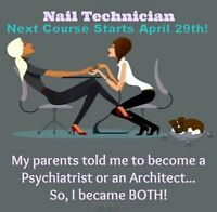 Spring Accredited Nail Tech Course begins Apr 29