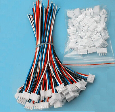 10 Sets XH2.54 4Pin 1007 24AWG Single End 15cm Wire To Board Connector  ()