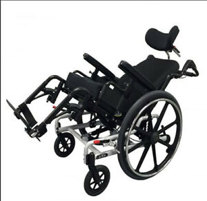 Super Tilt Plus Wheelchair with inflatable ROHO cushion