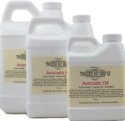 Avocado Oil 16oz, Organic, Soap making supplies, lotions, creams, massage oil Avocado Oil Soap