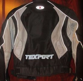 TEXPORT Motorcycle Jacket 100% Polyester Size M Designed in Italy Great Condition looks new