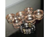 6 brand new diamante bangles and 1 preloved bangle