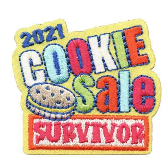 Girl 2021 COOKIE SALE SURVIVOR Fun Patch Patches Crests SCOUTS GUIDE selling