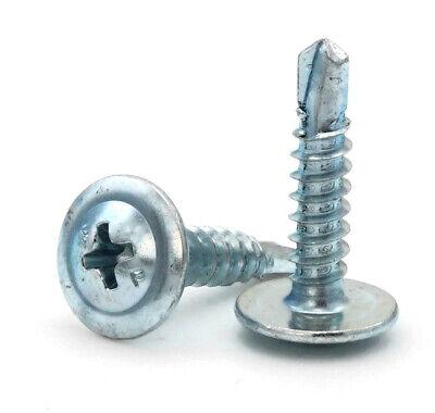 8 Self Drilling Screws - Phillips Modified Truss Head Zinc Plated Steel -select