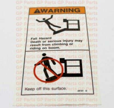 Genie 28181gtdecal - Warning Fall Hazard S4045s6065s60xs60xcs60trax