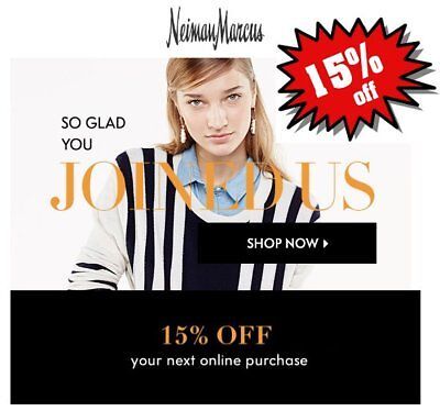 Neiman Marcus Coupon 15% Off (Expires Dec 8, 2018) *CLICK HERE* FAST THANK YOU